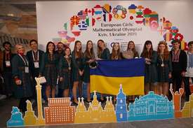 Наші призові медалі на European girls 'mathematical Olympiad.