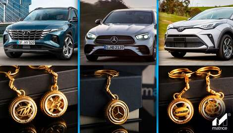 "The New collection of personalized car keychains from ""Matrice jewellery"""