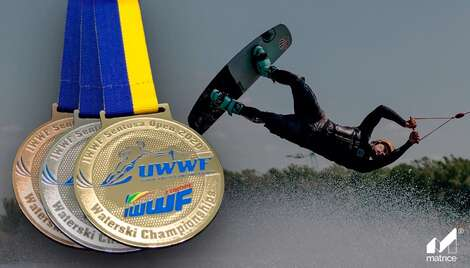"Medals from ""Matrice"" for the participants of the IWWF all Ukrainian wakeboarding Championship 2020"