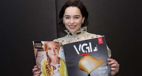 Look, we're on the cover! And in the hands of Emilia Clarke!