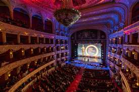 """The debut of the main prize """"Golden Duke"""" at the award ceremony of the 10th Film Forum in Odessa."""
