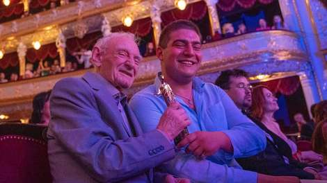 "The debut of the main prize ""Golden Duke"" at the award ceremony of the 10th Film Forum in Odessa."
