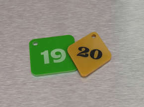 """Гардеробный номерок пластиковый """"19,20"""""""
