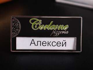 """Бейджик """"Corleone"""" з логотипом"""