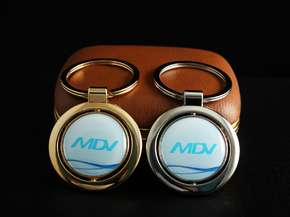 Keychain MDV with a 3D sticker