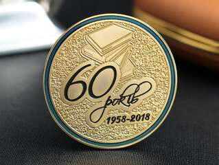 """Coin """"60 years"""""""