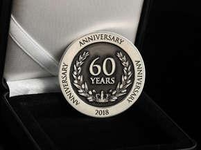 """Монет юбилейная """"60 лет"""""""