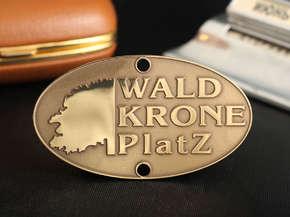 "Шильд ""Wald Krone Platz"""