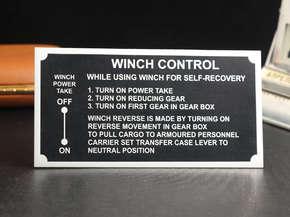 """Технический шильд """"Winch Control"""""""