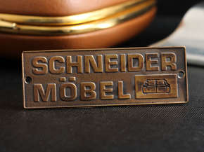 Nameplate for furniture Schneider