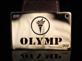 VIP card with logo