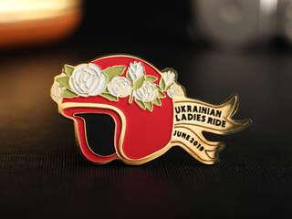 """Значок """"Ukrainian Ladies Ride"""""""